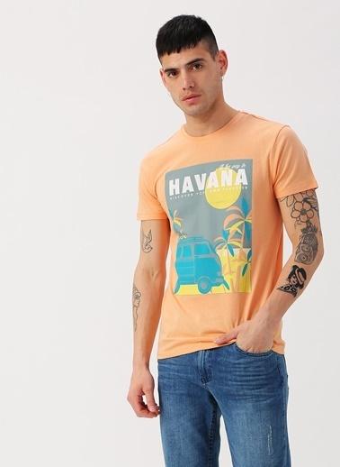 Koton Koton Havana Baskılı Turuncu T-Shirt Oranj